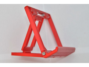 Foldable tilting tablet/phone stand