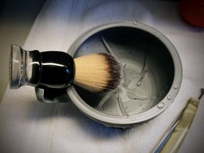 Shaving Lather Bowl with Brush Rest