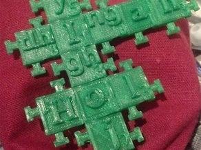 Klingon scrabble tiles (interlocking)