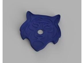 Tiger Cookie Cutter / Stamp (80 x 85mm)