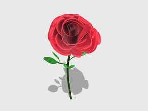 Blender 3D Design Rose Flower