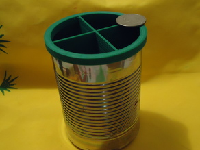 Soup Can Top Ring With Dividers