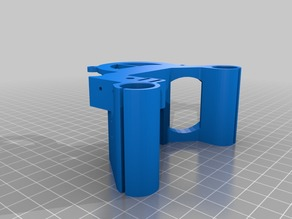 Anet A6 x-axis carriage for E3D v6 dual part cooling fan remix