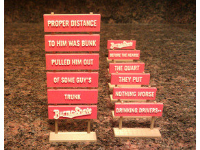 Customizable Miniature Burma-Shave Road Signs Redux