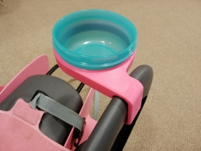 Child bike seat tupperware cup holder