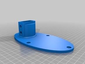 Clip mount fan wall bracket