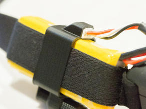 2S FPV Goggle Battery Holster + Cable Clip