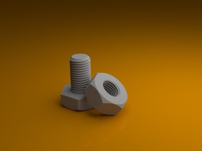 M3 nut and bolt