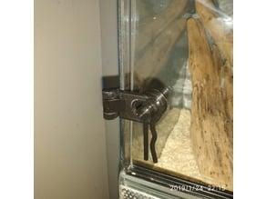 Hinge Glass Door Lock Latch for terrarium vivarium (for Bad Cat)