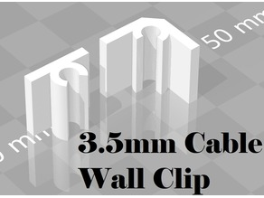 3.5mm Cable Wall Clip