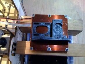 OpenSCAD Geared Nema 17 Extruder Block