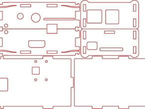 OpenBox - Raspberry Pi B with Camera Mount SVG locked