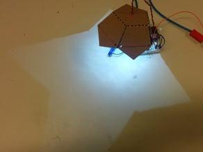Pentagonal lamp reflector, lasercut