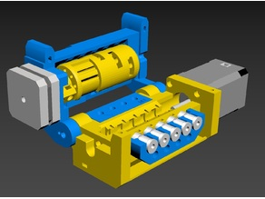 Multi-extruder derived from the Prusa Multi Material 2 upgrade.