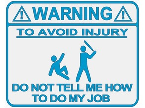Warning Sign (Baseball Bat Version)