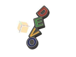 DEVO Dancing Letters Logo