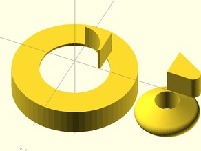 chamfers and rounded wedge for openscad