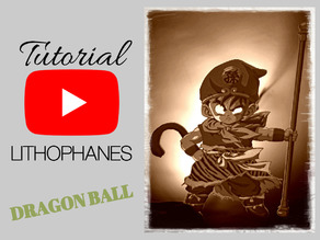 Litofania DRAGON BALL con tutorial