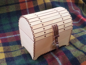 Treasure chest, with tapered lower