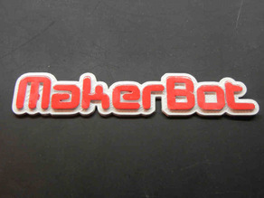 MakerBot 3D Text Logo