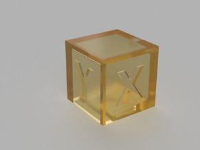 Calibration Cube X Y Z 20mm (SLA/DLP Edition for resin saving)