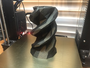 3 Headed Snake Low Poly Vase: two versions