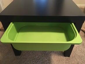 Ikea Lack drawer hangers for Trofast storage bin