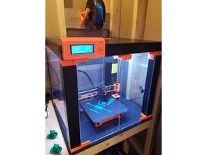Prusa Lack Enclosure with Electronics outside