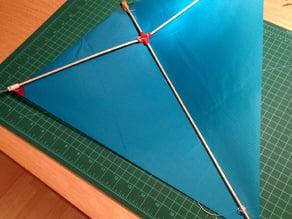 Diamond kite center connector (parametric)