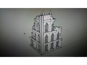 Gothic Building Scenery 40k Titan Knight