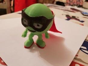 Evil Pea inspired superhero