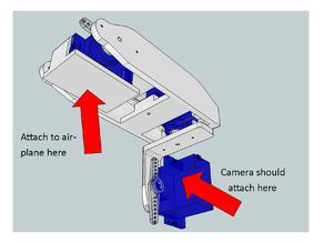 Retractable FPV camera gimbal