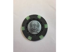 Dual color Poker chip with custom logo