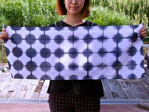 Cut lines for Shibori, Tie Dye created at Arimatsu Shibori x Digital Fabrication Workshop in Nagoya