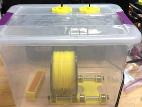 Dry Box for Large Spools with Roll Base