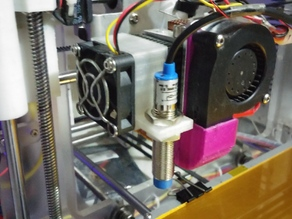 Inductive proximity sensor Mount for MK7 style Extruders
