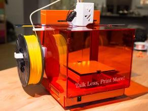 Plexiglas enclosure for the up! plus / Afinia 3d printer