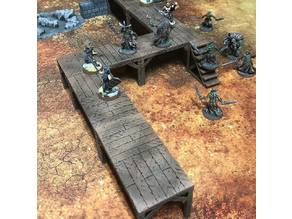 ScatterBlocks: Wooden Platforms (28mm/32mm scale)