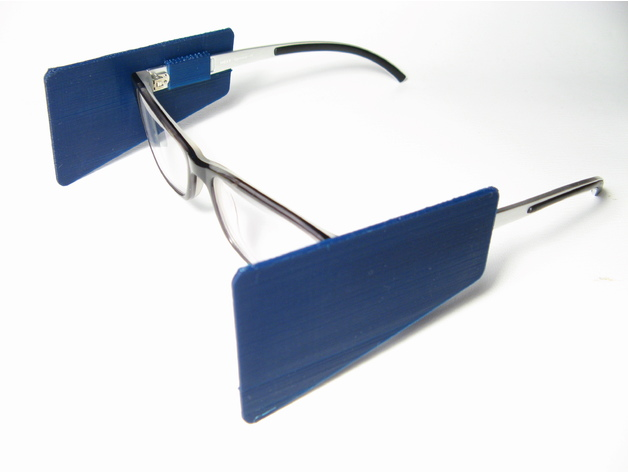 Clip On Blinders For Glasses By Jeffhiltz Thingiverse