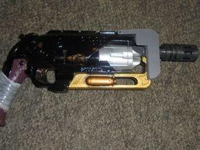 Modified Nerf: Hammershot Barrel Attachment