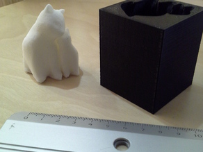 Mould for making a silicone version of Cuddling cats by PixelMatter