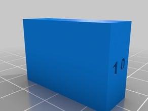 10 X 20 X 30 mm Test Cube