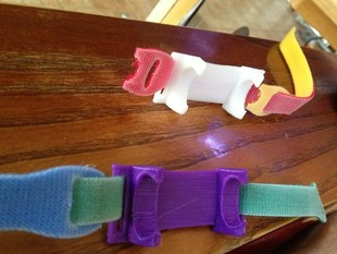 FitBit holder with loops for strap