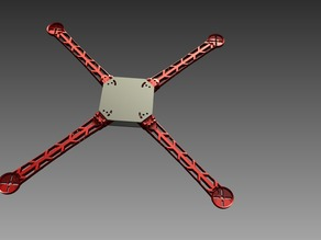 3D Printable Quick-Connect Quadcopter