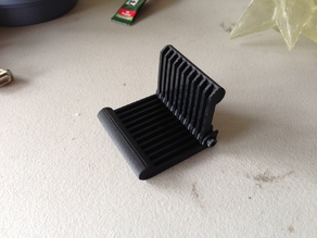 Folding mobile phone stand - improved