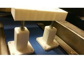 adjustable built plate/bed for k40 laser