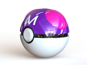 Master Ball - Fully Functional PokeBall with Button and Hinge