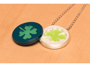 Shamrock 4-leaf clover coin or pendant