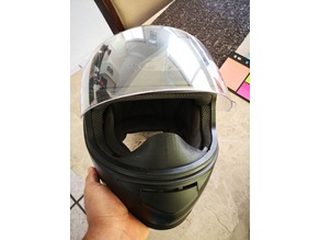Nose protection for motorcicle helmet ( joe rocket)