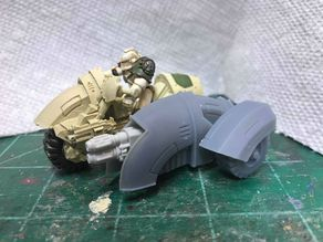 28 mm Heresy Attack Bike Sidecar - Servitor variant
